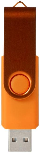 Clé USB publicitaire Métallique rotative - jaune