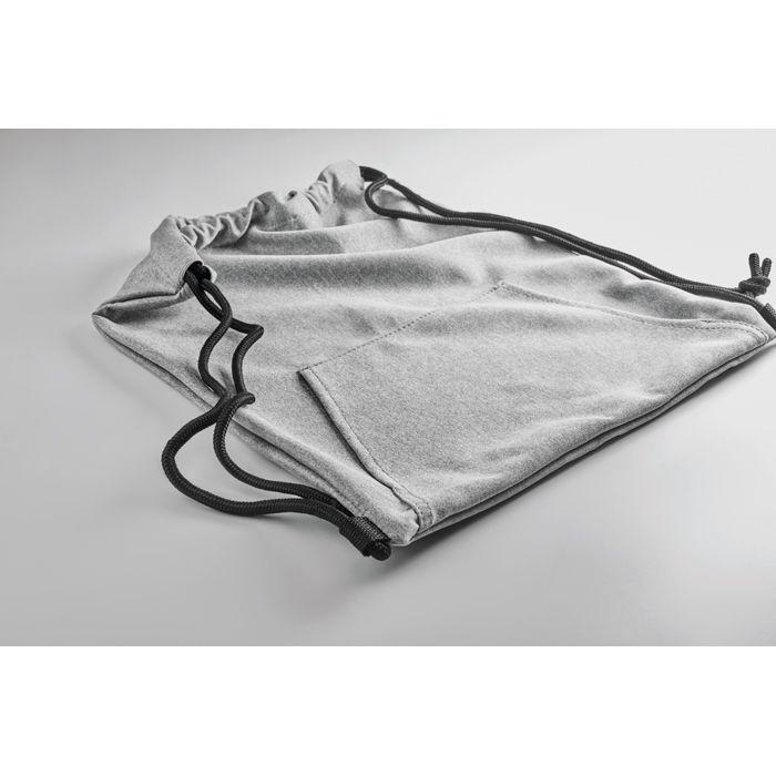 cadeau publicitaire - gymabg personnalisé en polaire avec poche gris clair