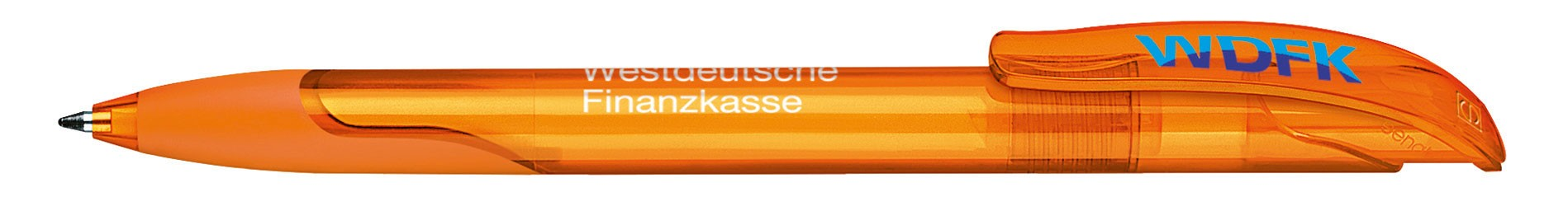 Stylo personnalisable écologique Challenger Transparent grip - stylo publicitaire