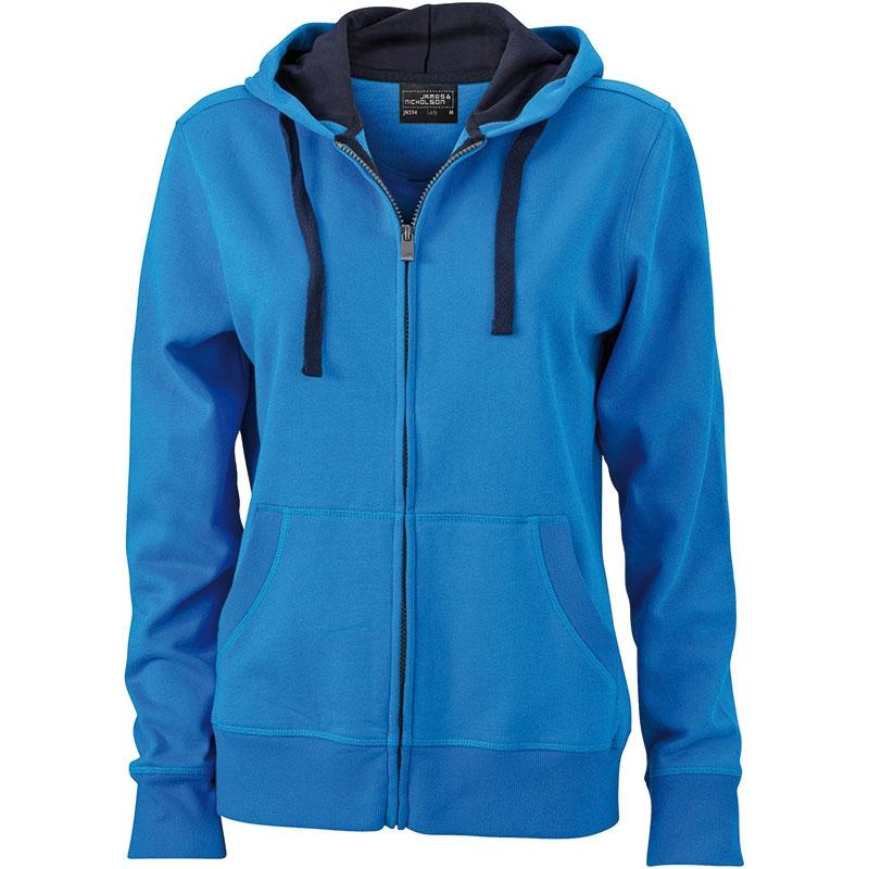 Cadeau d'entreprise - Sweat-shirt personnalisé à capuche Femme Jess - bleu