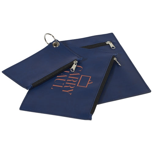 Cadeau client - set 3 pochettes zippées publicitaires en PU  Inca