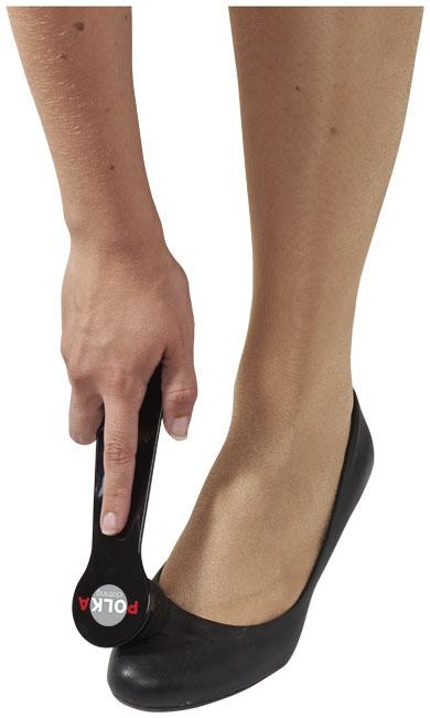 Set chausse-pied publicitaire et éponge de lustrage Rapido noir