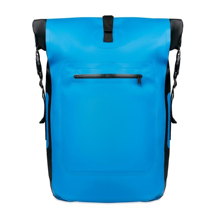 Sac à dos publicitaire bleu imperméable en bâche Scuba Bag - objet pub