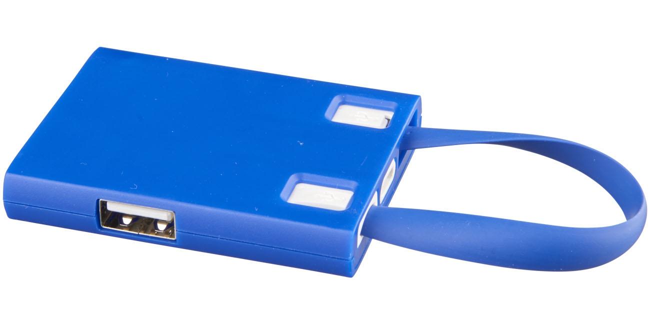 Hub publicitaire USB avec cables 3 en 1 Skilled - cadeau publicitaire