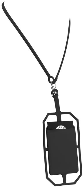 Tour de cou et porte-cartes publicitaires avec protection RFID Bloke noirs