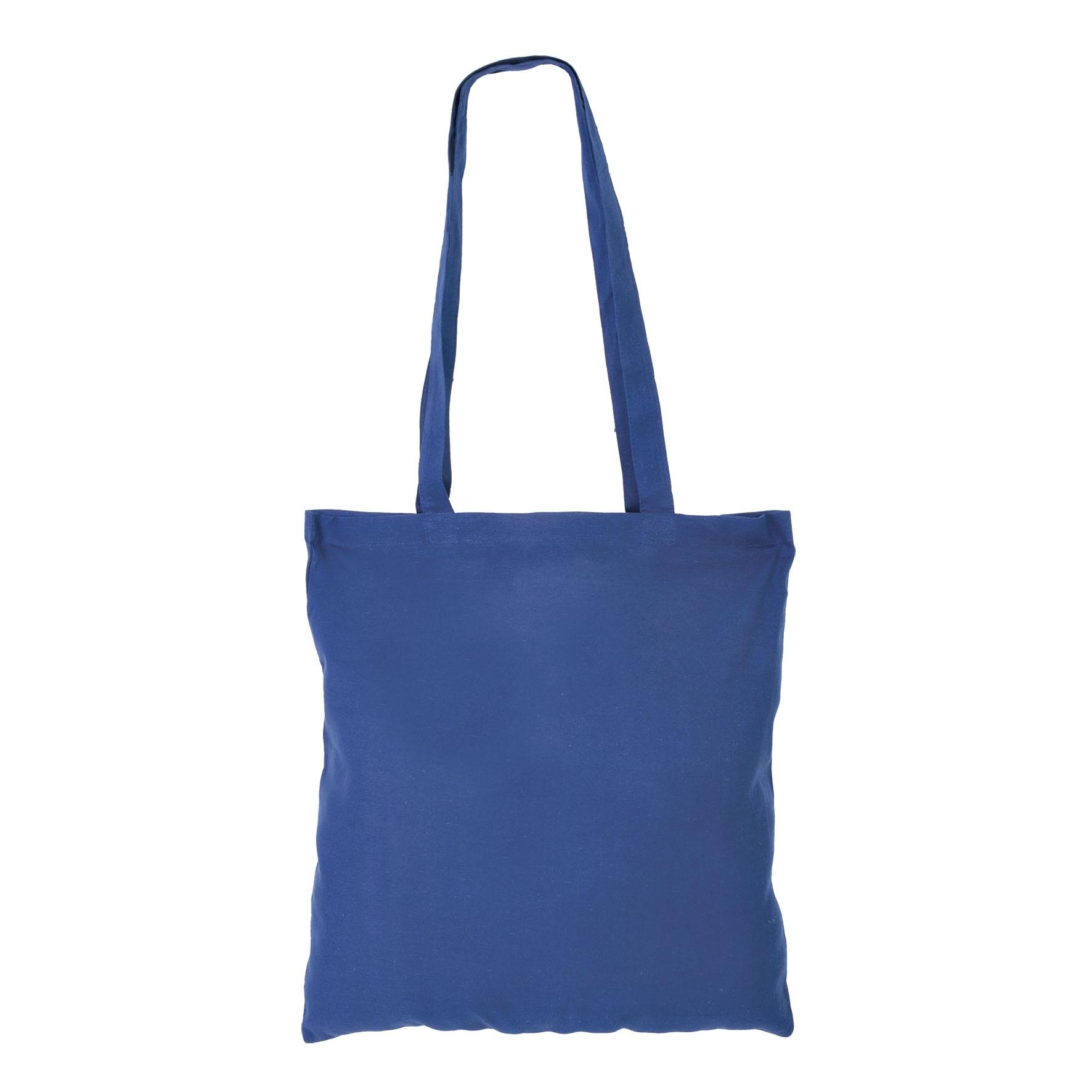 Sac shopping publicitaire coton Maria - sac shopping personnalisable - bleu