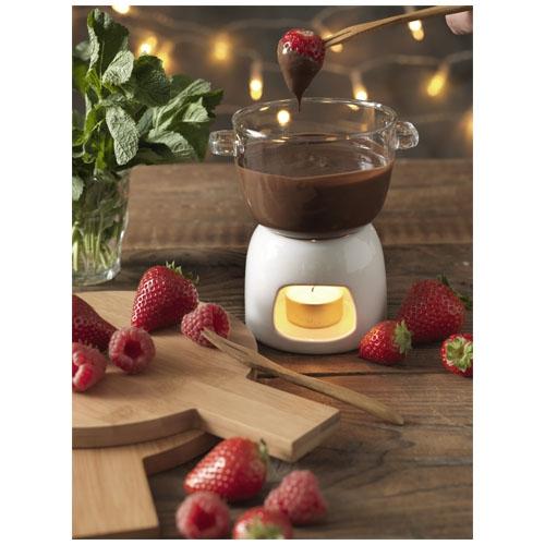 Cadeau entreprise client - Ensemble en verre pour fondue au chocolat