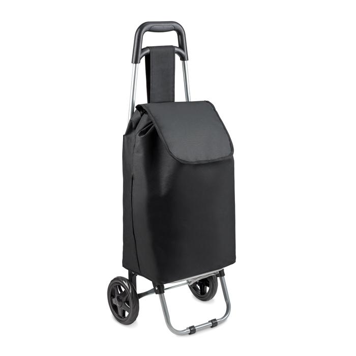 Cadeau d'entreprise - Chariot de courses publicitaire San Miguel noir