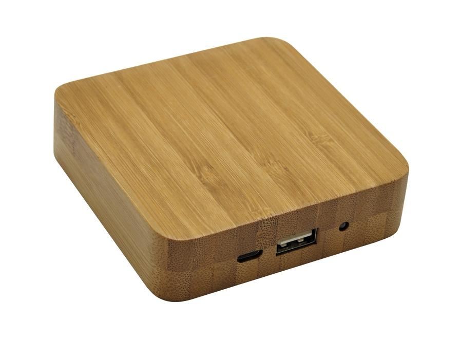 Powerbank publicitaire écologique Bamboo 5200 mAh - cadeau d'entreprise écologique