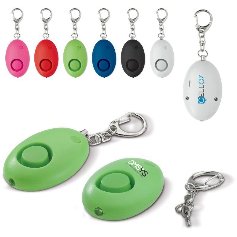 goodies salon - porte-clés personnalisé avec alarme self défense