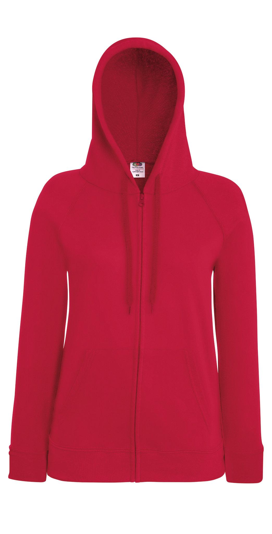 Sweatshirt à capuche promotionnel Lightweight hood rouge pour femme