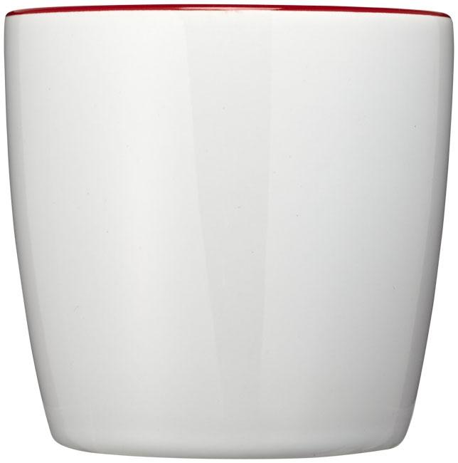 Mug publicitaire Aztec blanc et rouge