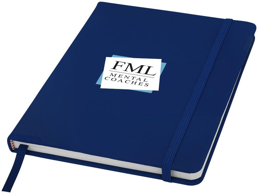 Carnet de notes personnalisé A5 Spectrum avec pages blanches bleu marine
