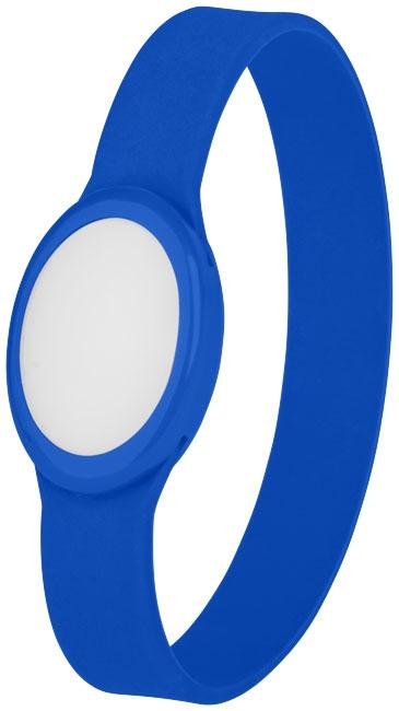 Bracelet publicitaire en silicone à Led Tico - blanc