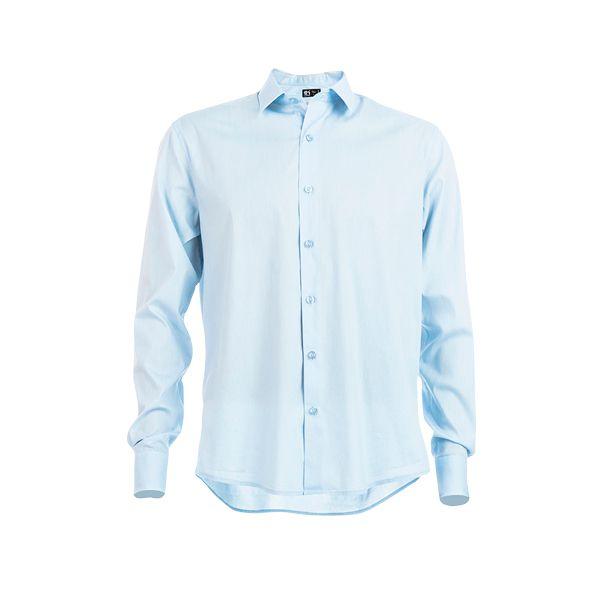 Chemise personnalisée en popeline pour homme Parisien bleue