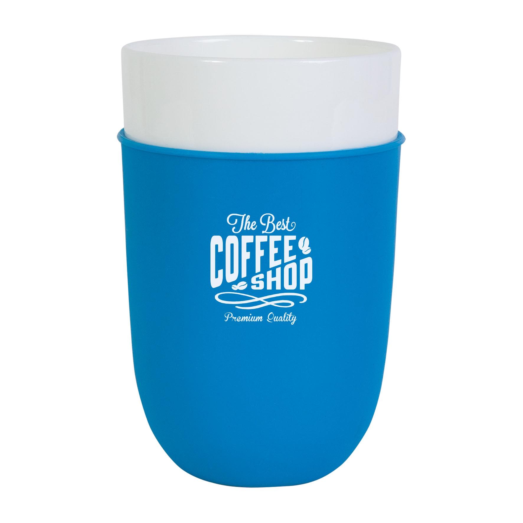 Mug publicitaire Zipper 38 cl - Mug personnalisable - bleu