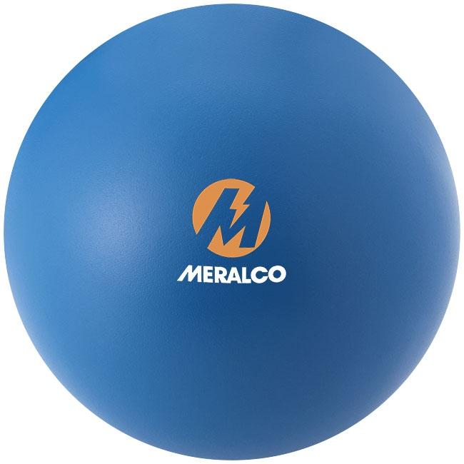 Balle anti-stress publicitaire Bright bleue