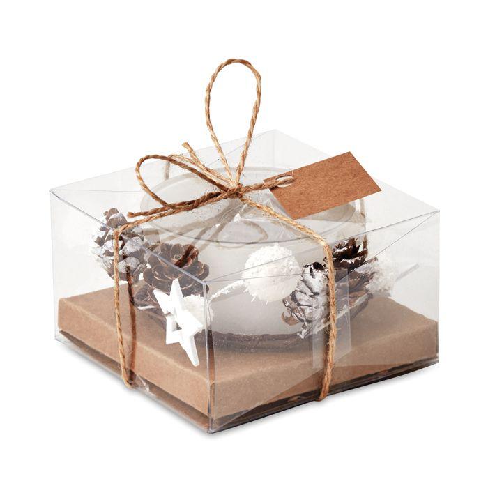 Cadeau d'entreprise de Noël - Bougeoir de Noël personnalisable Bougie