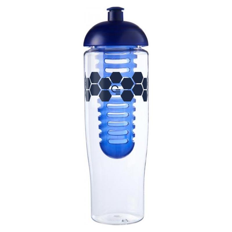 Bouteille de sport publicitaire et infuseur H2O Tempo® 700 ml avec couvercle dôme
