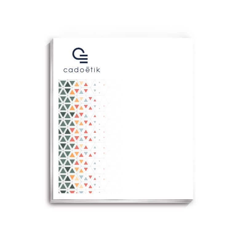 Bloc-notes mémo publicitaire BIC® 50 x 75 mm de 25 feuilles adhésives