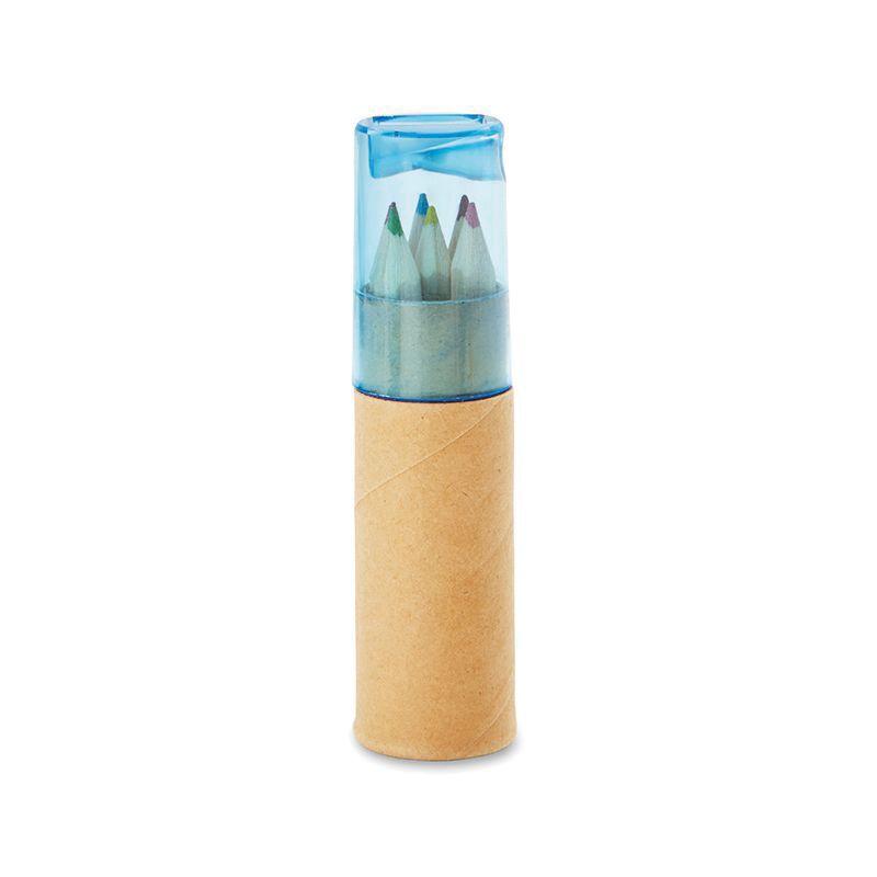 Tube de 6 crayons de couleur Petit Lambut avec taille-crayon