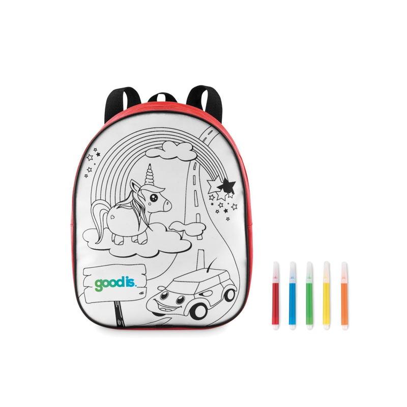 Sac à dos personnalisable à colorier en 600D Backsketchy