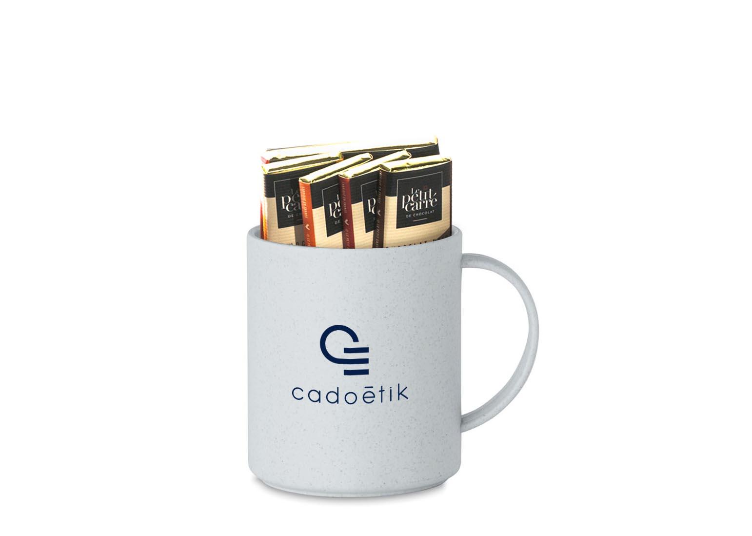 Tablette de chocolat pour garnir un mug personnalisé