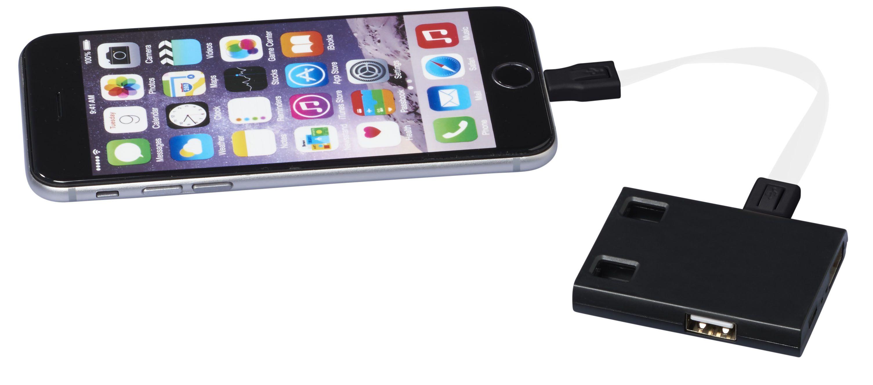Hub publicitaire USB avec cables 3 en 1 Skilled - goodies