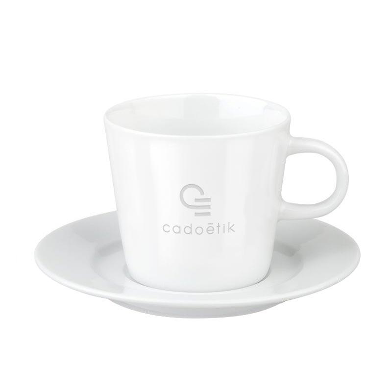 Tasse publicitaire en porcelaine Fancy