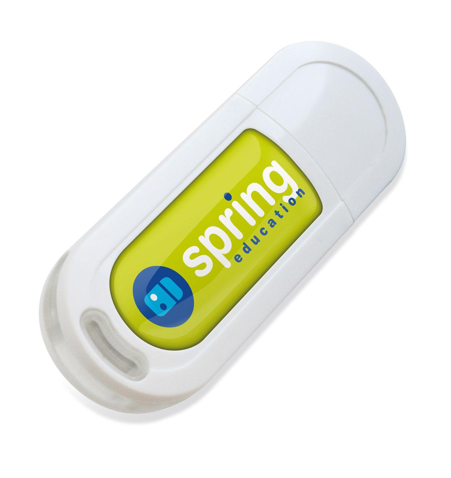 Cadeau promotionnel - Clé USB publicitaire écologique Ecospring