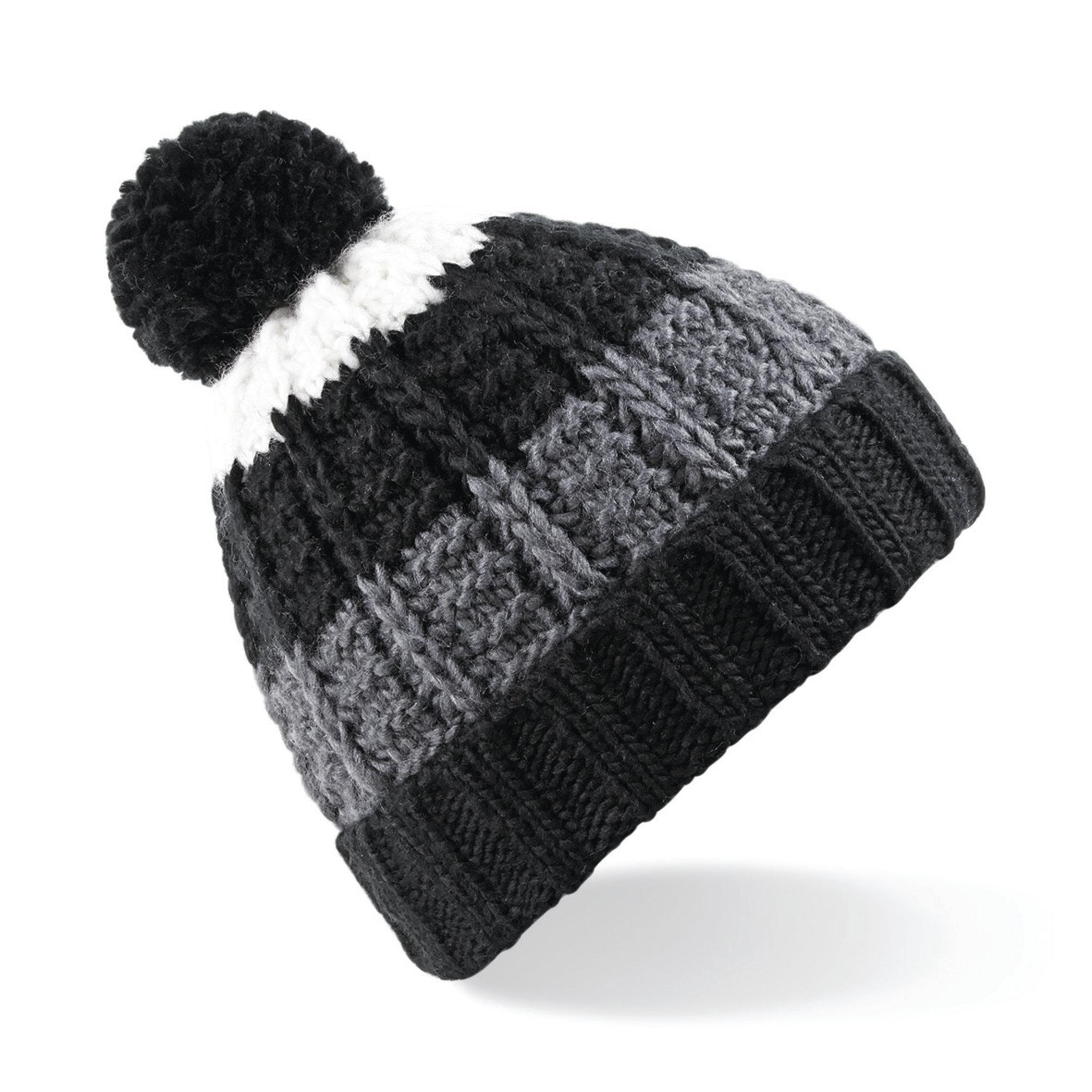 Bonnet promotionnel Chamonix - bonnet publicitaire corail/blanc/gris