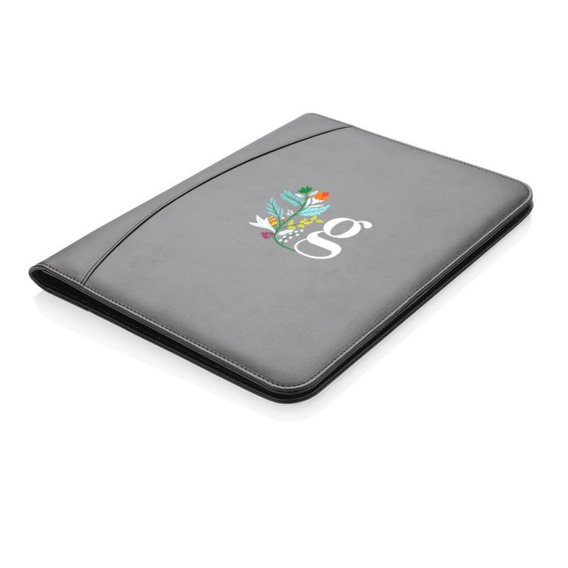 Conférencier publicitaire Essential noir - support personnalisable pour tablette