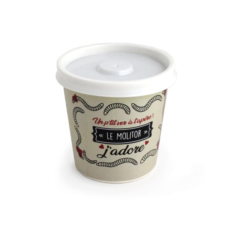 Goodies écolo - Insectes comestibles en pot en carton personnalisable