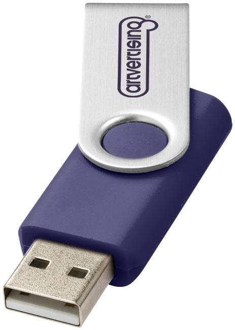 Clé USB publicitaire rotative 16 Go Axis bleue