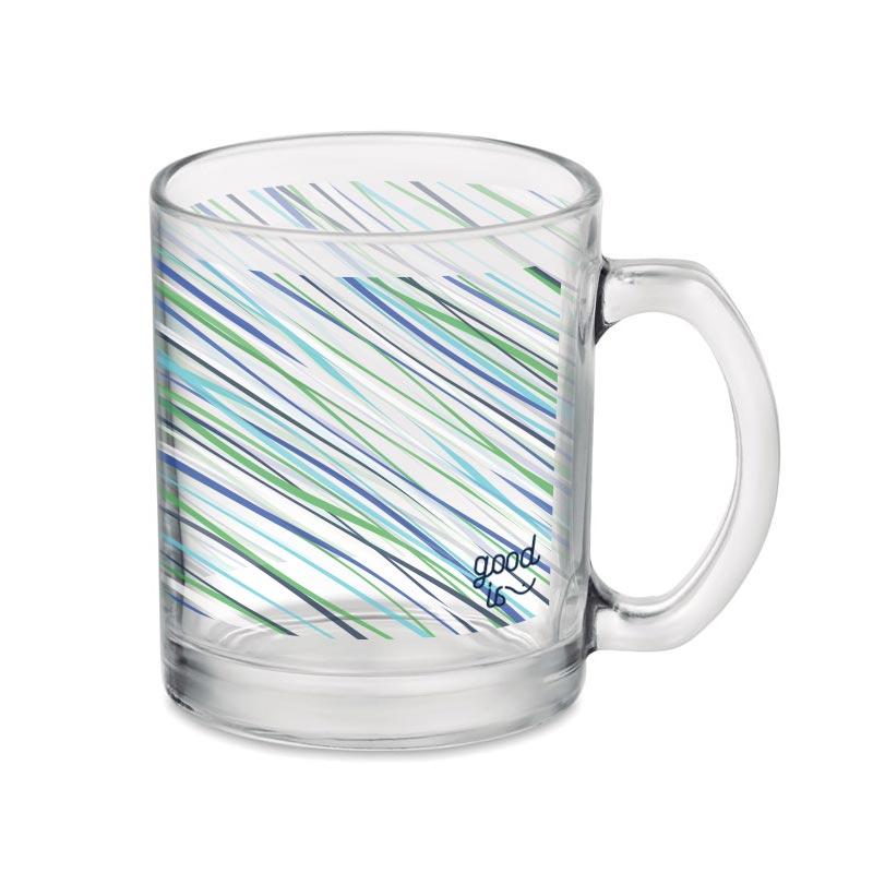 Mug publicitaire en verre à personnaliser par sublimation