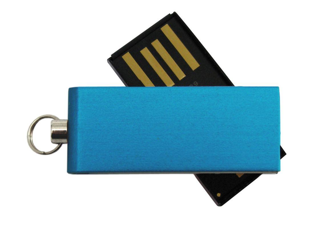 Clé USB publicitaire Twist bleu - Cadeau d'entreprise