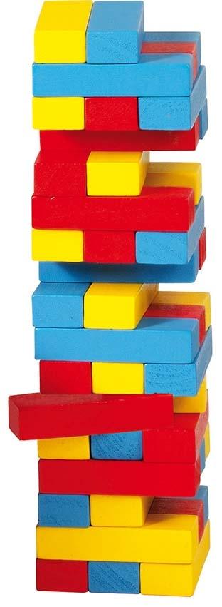 Objet publicitaire enfant pour entreprise et comité CE - Briques colorées en bois