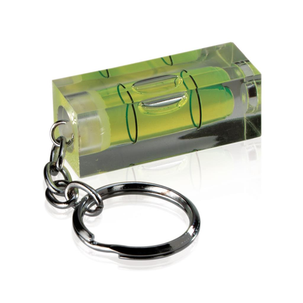 Porte-clés / niveau à bulle en acrylique