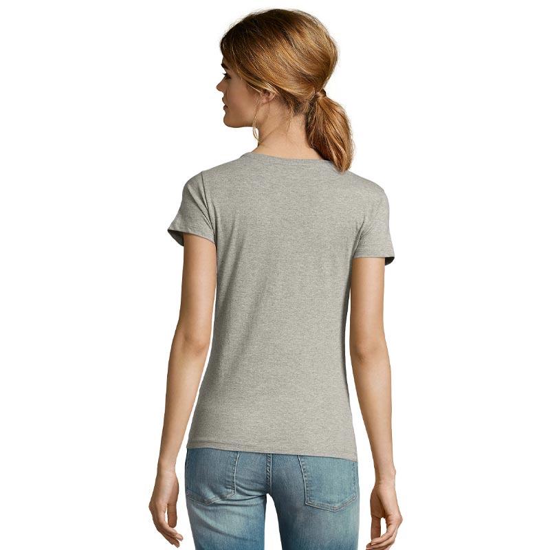 tee-shirt publicitaire femme en coton bio - coloris gris