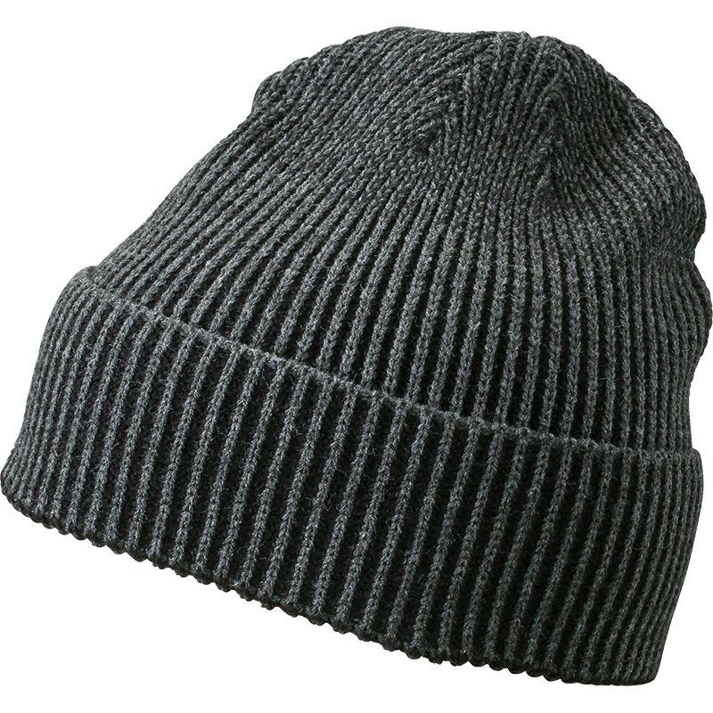Bonnet publicitaire Tricot bicolore, anthracite/noir