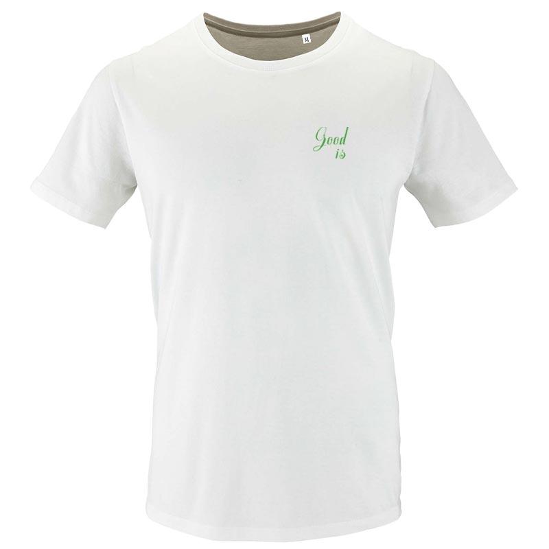 tee-shirt personnalisé en coton bio Milo - modèle homme