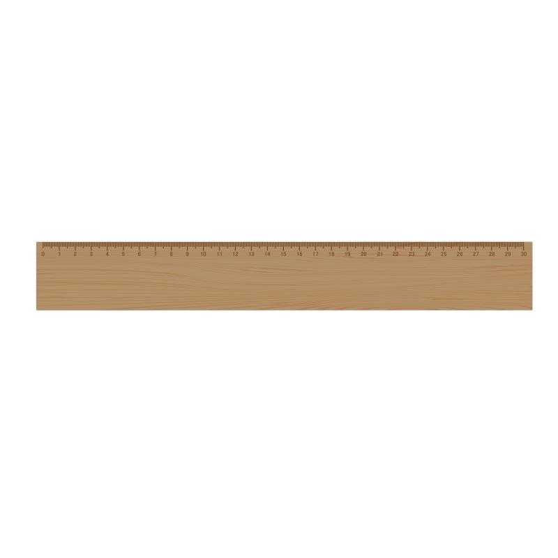Règle en bambou 30 cm Ep. 0,5 cm