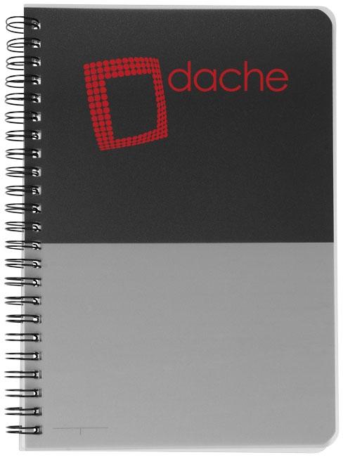 Carnet promotionnel Colour Block A5 - carnet publicitaire noir/gris