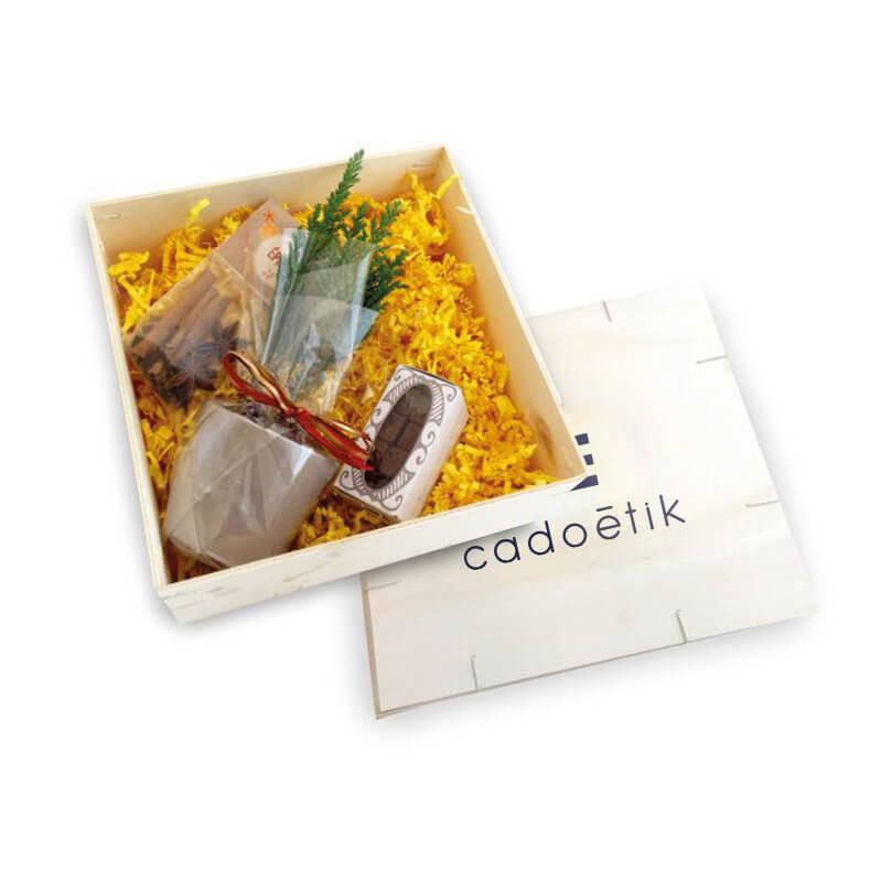 Cadeau d'affaires - Le Coffret Chocolat mini sapin