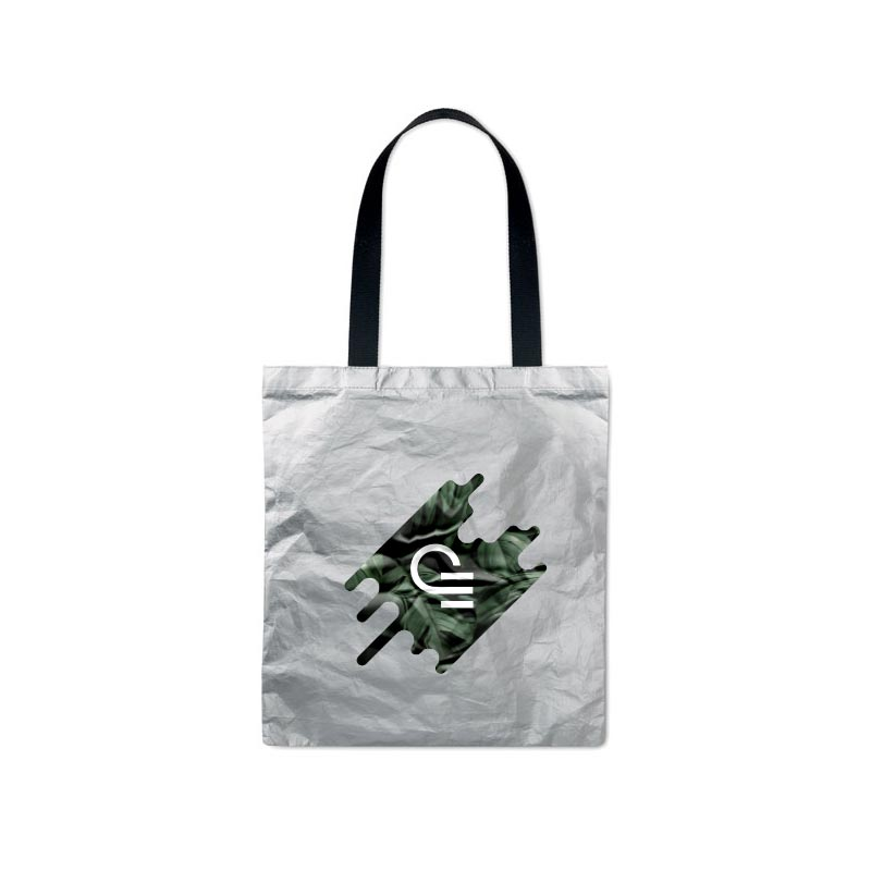 Sac shopping publicitaire Tyvek® Silver Tytote
