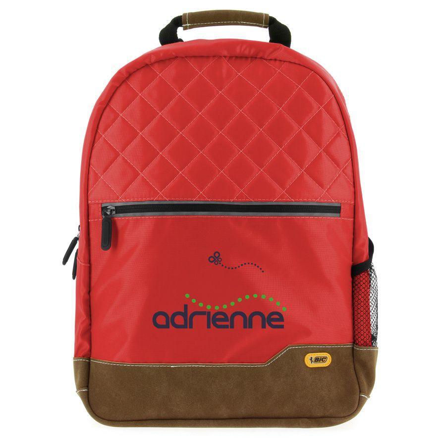 Sac à dos promotionnel Bic® Classic Backpack SP rouge - cadeau publicitaire