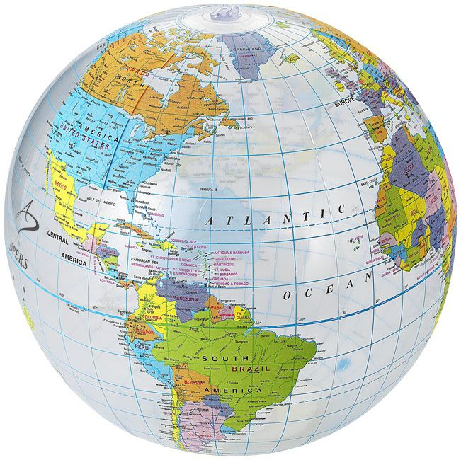 Goodies - Ballon de plage personnalisé transparent Globe