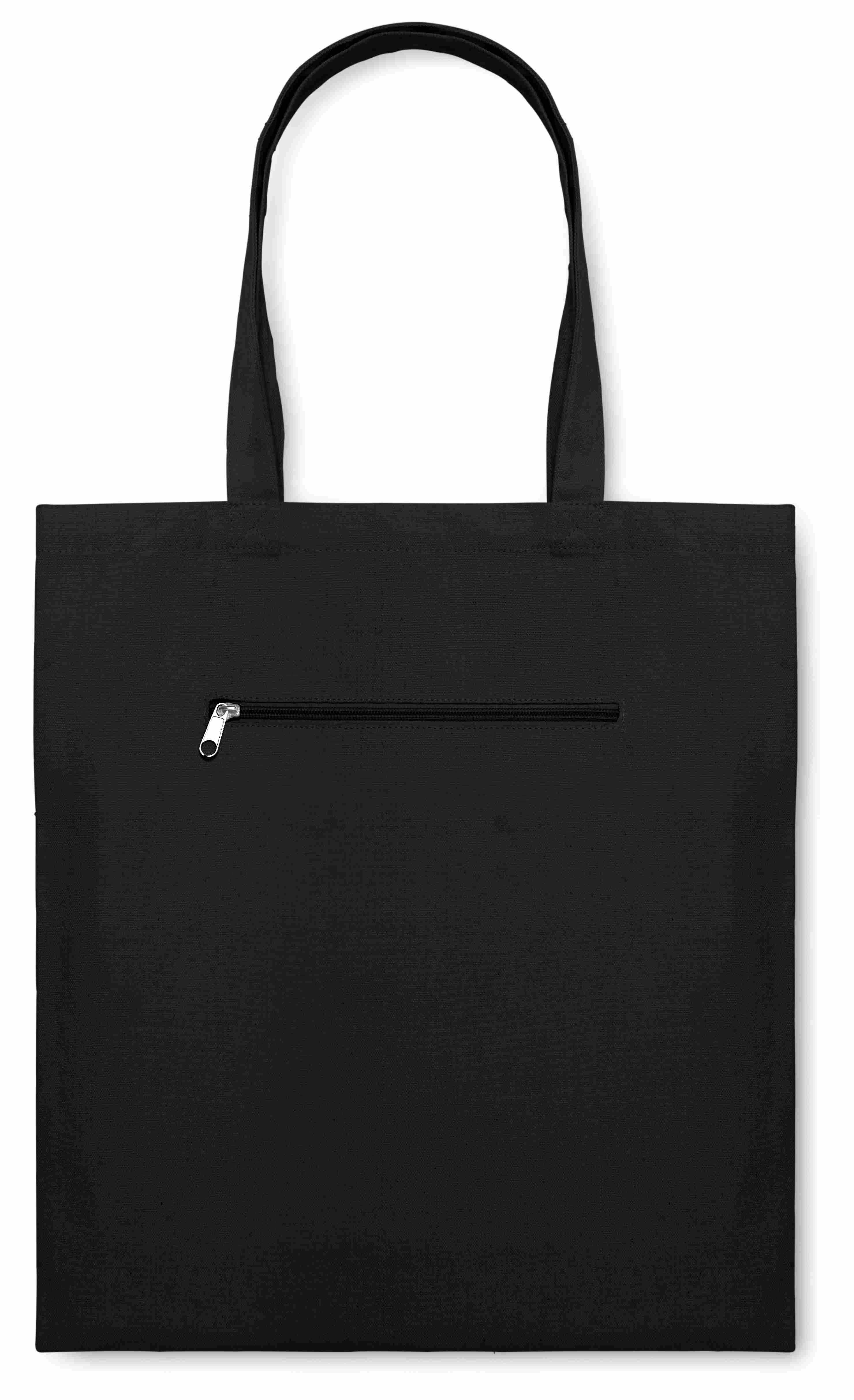 Sac shopping publicitaire Moura - sac shopping personnalisable noir