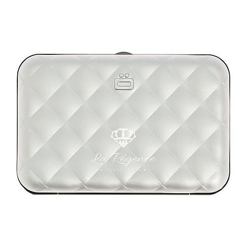 Goodies - Porte-cartes publicitaire RFID alu gris matelassé Royal