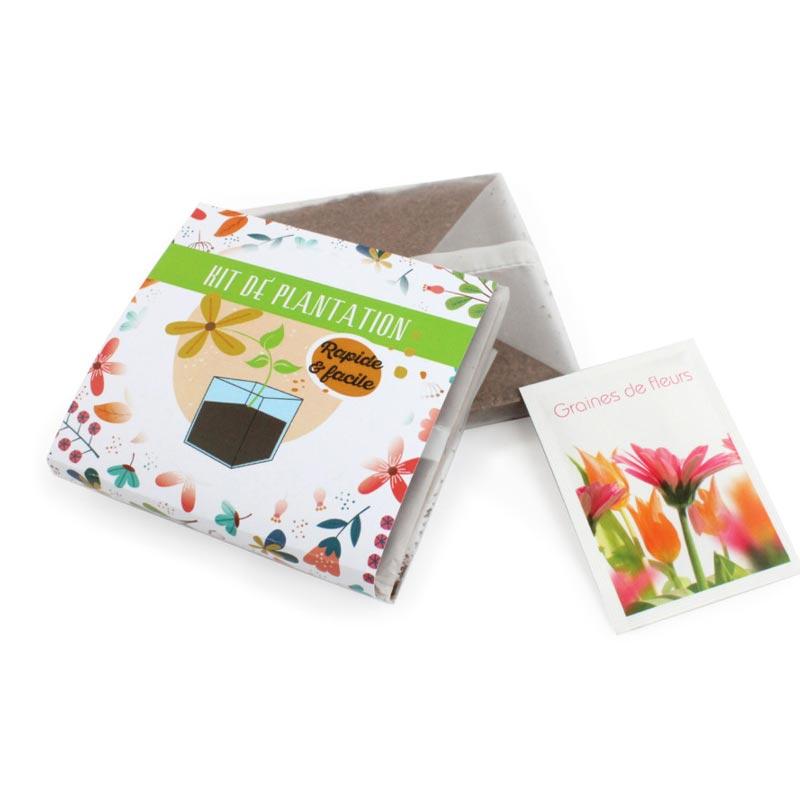 Kit de plantation personnalisable Pocket Coco - goodies pas cher